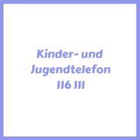 Telefonnummer Kinder und Jugendtelefon